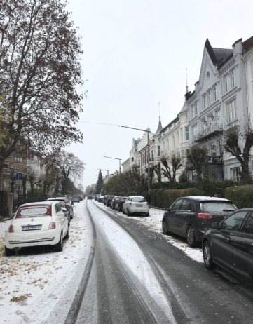 FIRST SNOW IN OSLO